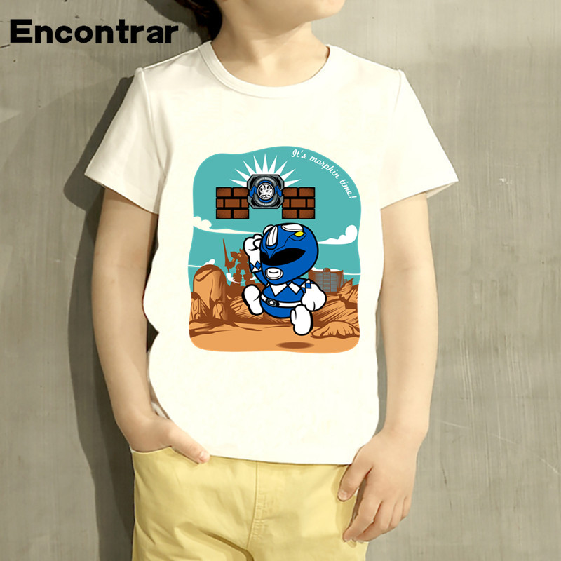 kids Paper Ranger Design TShirt Boys/Girls Great Casual Short Sleeve Tops Children Cute T-Shirt,HKP2274
