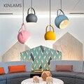 Современный светодиодный подвесной светильник, красочные подвесные лампы для столовой, ресторана, E27, электрический провод, украшение дома,...