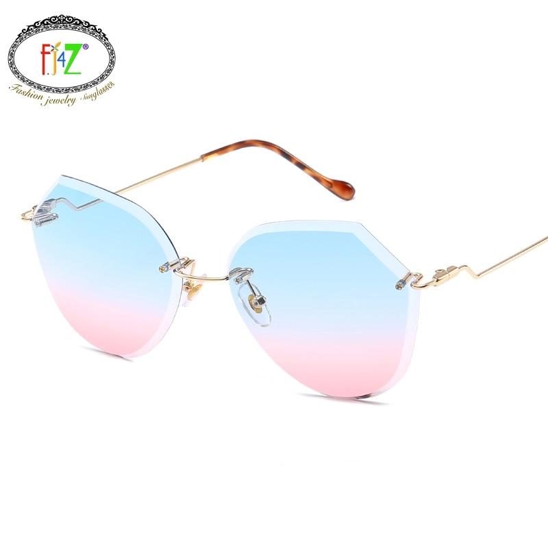 F.J4Z Hot Unusual Brand Designer Cool High Quality Beautiful Gradual Sunglasses 6 Colors Lens Shades UV400