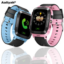 [Aaliyah] Child GPS Smart Watch with Camera Flashlight for Android Phone Smartwatch Kids Smart Electronic Watch