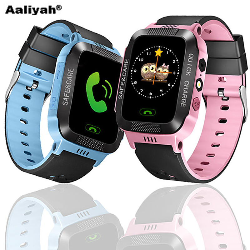 [Aaliyah]Children's GPS Smart Watch Camera Flashlight Learning Compatible Android Mobile Phone Children's Smart Electronic Watch