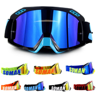 100% Soman Gafas Motocross Goggles Glasses MX Off Road Bike Motorcycle Helmets Goggles Ski Sport Glasses Masque Moto Glasses