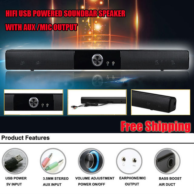 b1863bfbb71 POWERFUL USB MINI SOUNDBAR   SOUND BAR