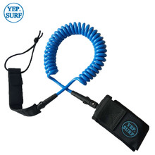 Surfing 7ft 7mm Leash Blue/black Surf Coil Leash Surf Accessories yooap cans opener household kitchen tools professional manual stainless steel openers with turn knob