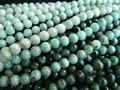 Free shipping (64 beads/set/22g) natural Emerald 6mm smooth round charm gem stone  for jewelry making