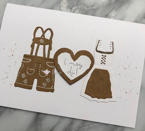 Image 5 - Piggy Craft metal cutting dies cut die mold Skirt overalls decoration Scrapbook paper craft knife mould blade punch stencils die