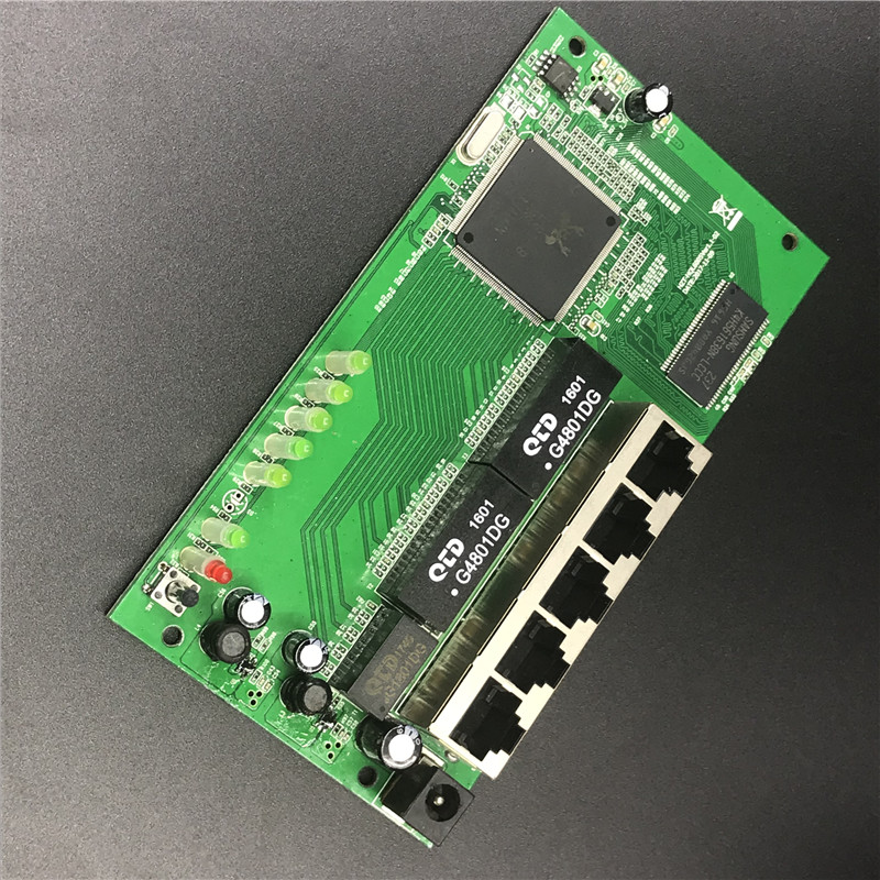 OEM 5 port Gigabit router module 10/100/1000M distribution box 5-port mini router modules OEM wired router module PCBA with RJ45 2