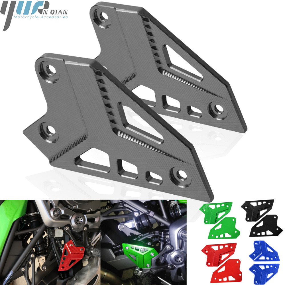 Buy Motorcycle Accessories CNC Aluminum For Kawasaki Z900 2017 Foot Peg Heel Protection Protective Film Mount Heel Guard Protector for only 29.29 USD