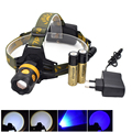 Cumay Outdoor Fishing Headlamp XPE Q5 2000 Lumens 4 Mode LED Headlight Lanterna Rechargeable Hunting Head Light 18650 Charger
