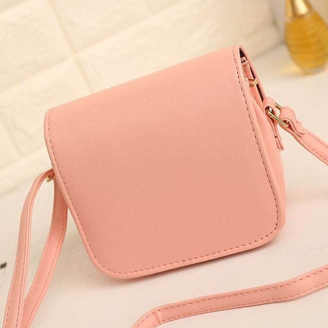 Women Small Chain PU Leather Shoulder Handbag