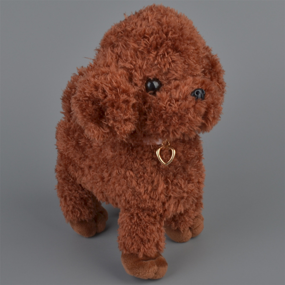 22 см коричневый Цвет собака Фаршированные Плюшевые игрушки, детские куклы подарок бесплатная доставка