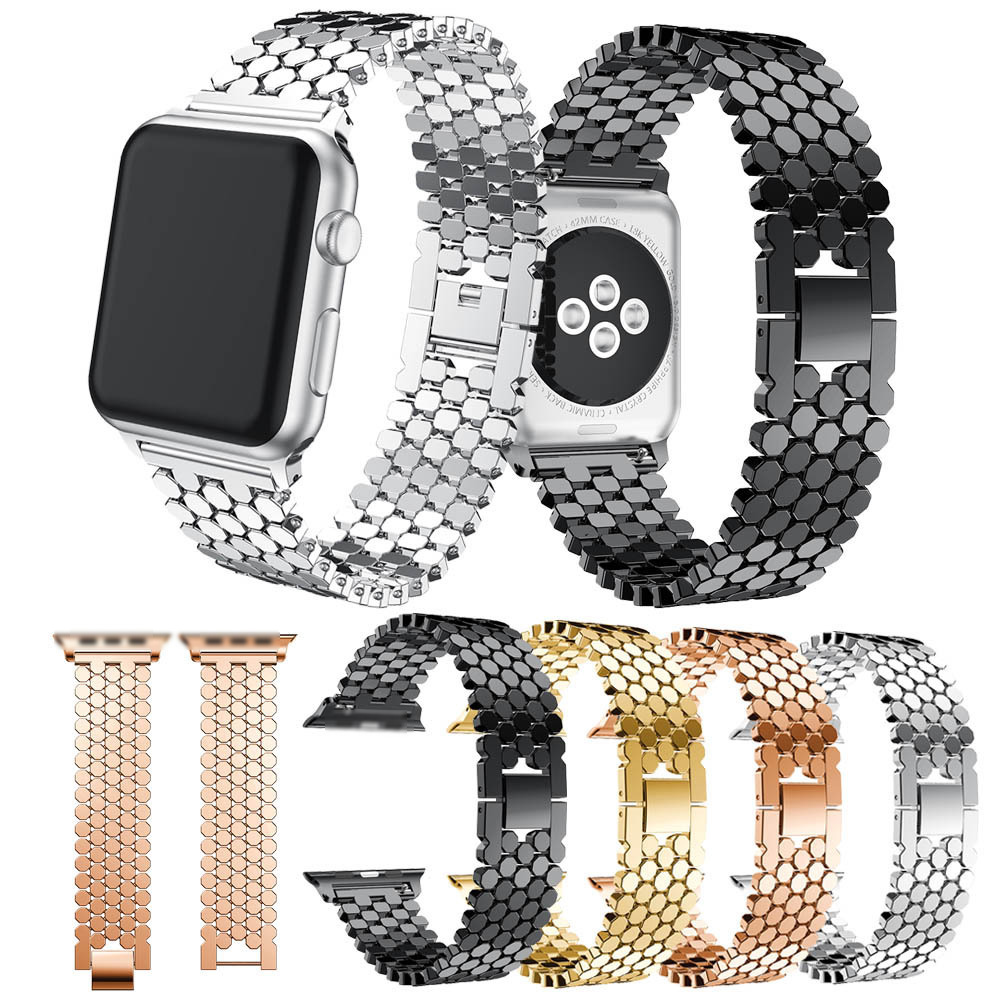 SIKAI Stainless Steel Watchband for Apple Watch 38mm 42mm Series 1 2 3 Wrist Band for i-Watch Strap Replacement Bracelet 42mm 38mm for apple watch s3 series 3