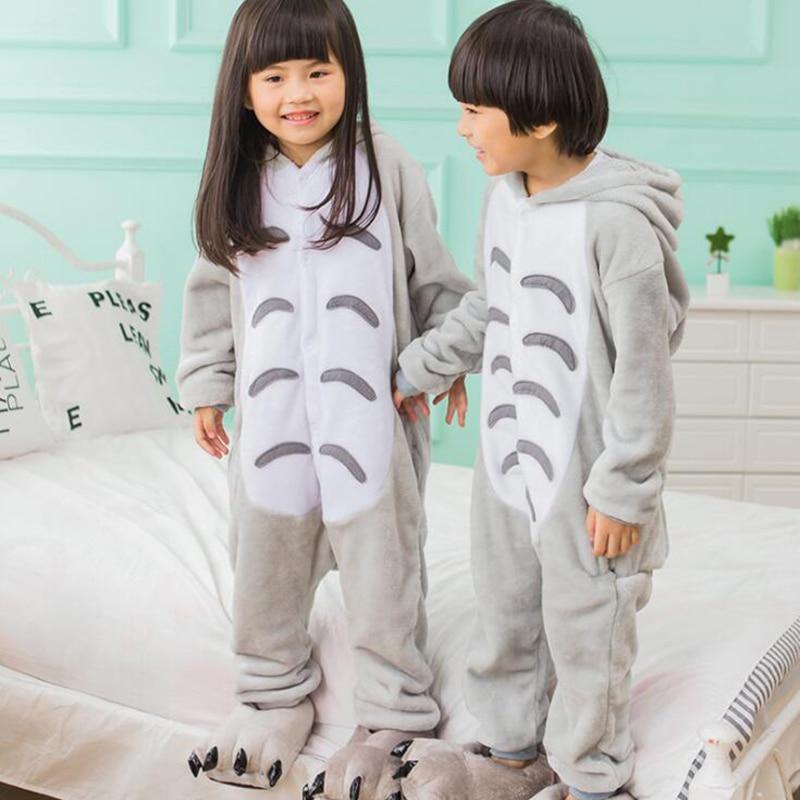 Adult Totoro Cartoon Kigurumi Cosplay Costume Loose Kid Winter Animal Jumpsuit Boy Anime Flannel Onesie Pajamas Sleepwear Girl