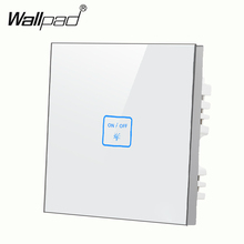 Luxury 1 gang 1 way White Glass touch light wall switch Customize words LED touch switch,Power Light Switch Free Shipping new arrival 2 gangs 1 way crystal glass led black diy touch light wall switch touch switch free customize words free shipping