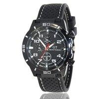 Moda masculina pulseira de silicone barato clássico preto dial relógio de pulso de quartzo moda tendência esportes ao ar livre ama presentes