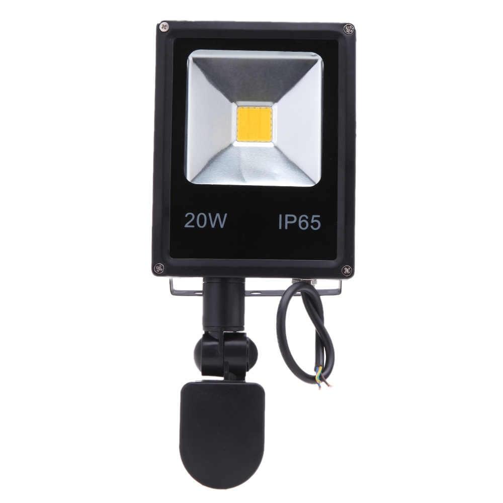Открытый Сенсор светодиодный прожекторы IP65 10 Вт 20 Вт 30 Вт 50 Вт отражатель удара свет шарик Светодиодный прожектор лампы 85-265 В сад настенные светильники