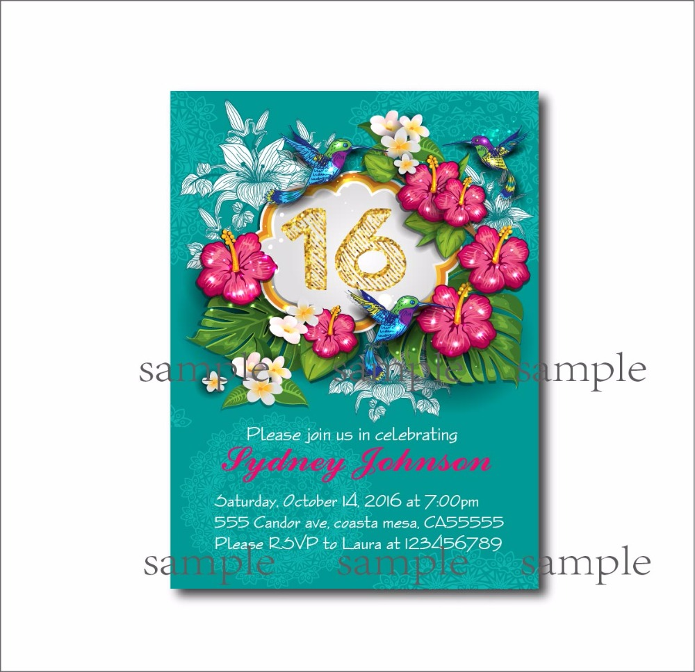 14 Pcs Lot Personalized Sweet 16 Birthday Invitations Adult 30th 40th 50th 60th 70th 80th Invites Party Decoration Gift In Cards From