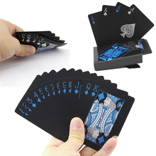 Sports Entertainment - Entertainment - 54Pcs Plastic PVC Poker Waterproof Playing Cards Gift Quality Playing Card Durable Black Poker Card Game Carte Da Gioco Plastica
