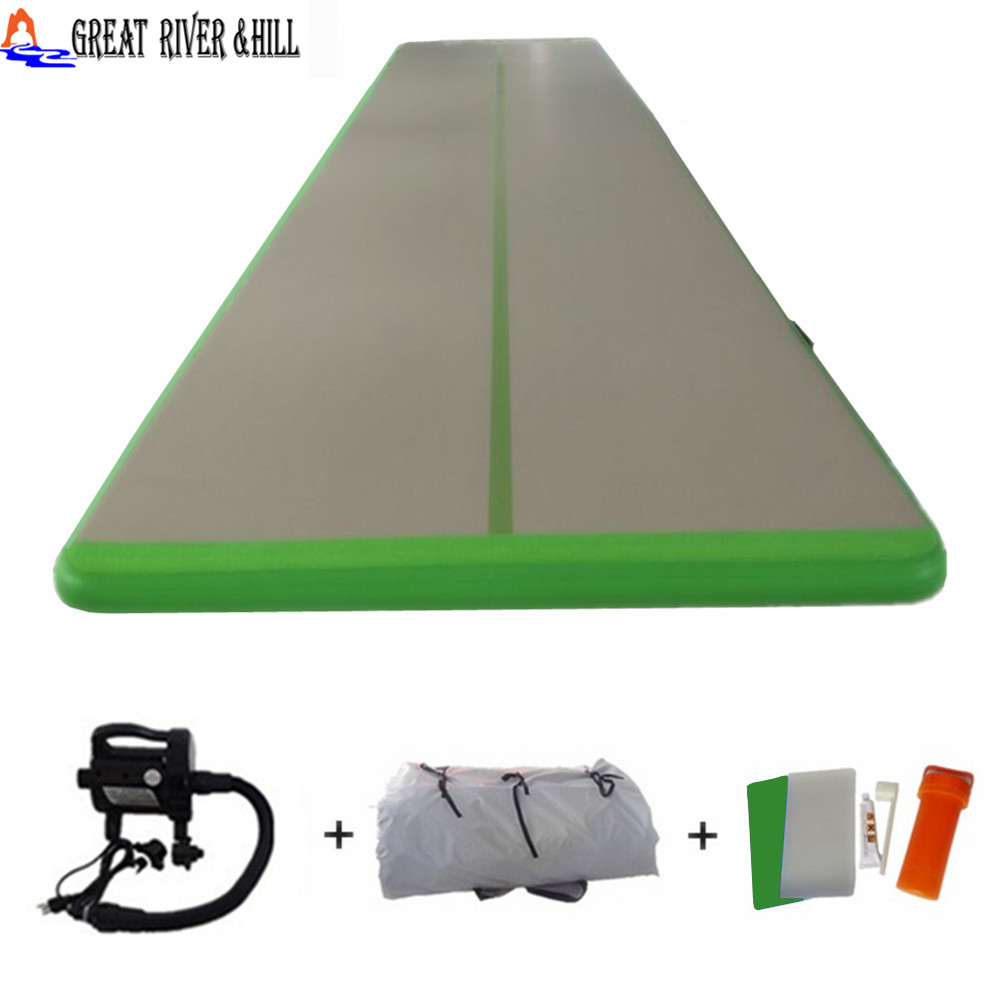 Inflatable training mats 5m x1.5m x0.1m Durable Commercial Air Tumble Track for sale