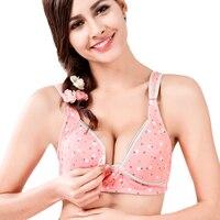 a36f4295175fe Cotton Wire Free Plus Size A B C D Dot Maternity Bras Underwear Nursing  Bras Feeding For Pregnant Women