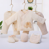 Thickening Warm Combed Cotton Baby Sets Autumn Clothes Unisex Newborn Clothes Baby Boy Girl Clothing Sets