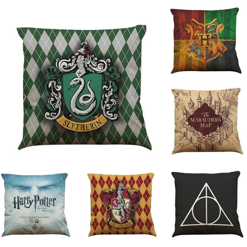 Harry Potter Pillow For Home Decor Waist Cushion Cover Hogwarts Death Geometrics Sign Mo ...