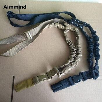 Rifle táctico pesado SlingOne 1 American Single Point Sling cuerda elástica ajustable Rifle hombro Correa longitud para aire-suave al por mayor