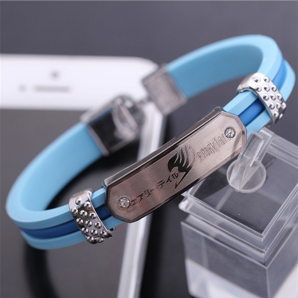 Hot Anime Fairy Tail Bracelet Fashion Silica Gel Bracelet Wristband Cosplay Prop Gift