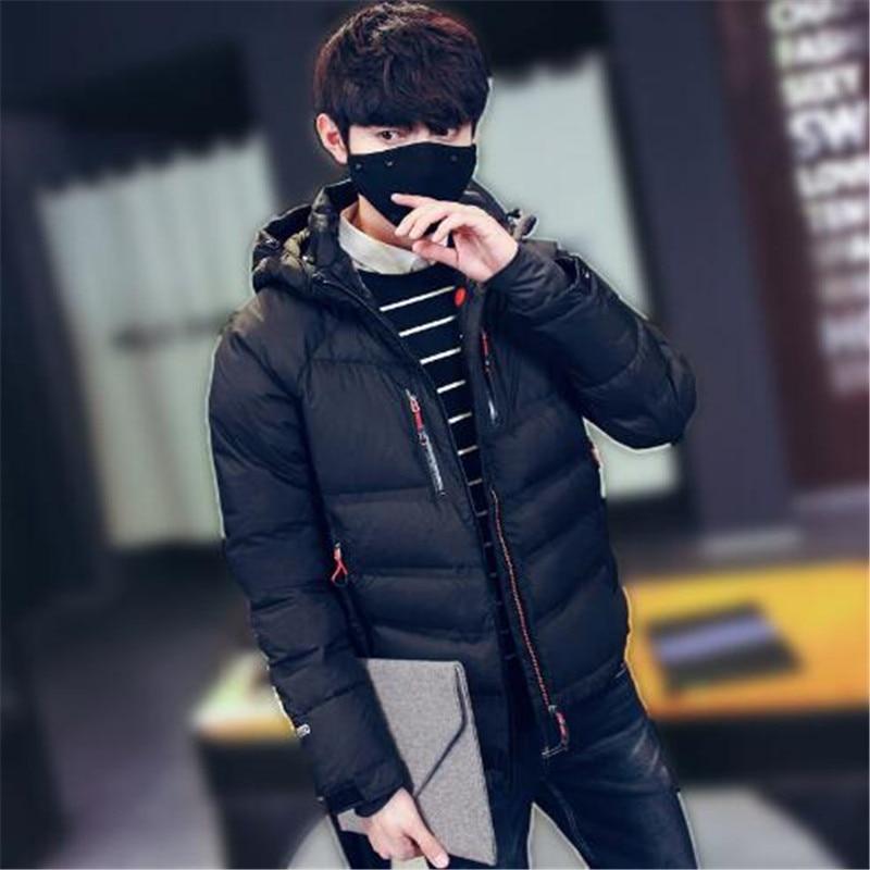 Для мужчин зимние Для мужчин; пуховая куртка Новый 2018 молодежная мода красивый короткая заметка пуховик мужской тенденция парка