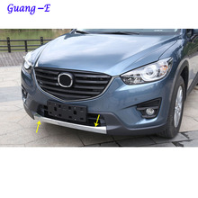 For Mazda CX-5 CX5 2013 2014 2015 2016 Car protection Bumper engine ABS Chrome trim Front bottom Grid Grill Grille hoods edge