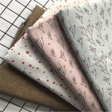 Abrasion-Resistant Printed Cotton Linen Fabric Patchwork Canvas DIY Sewing Quilting Floral Material