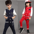 V-TREE Teenage children clothing set sports suit for boys girls  baseball suit kids tracksuit fashion outfit