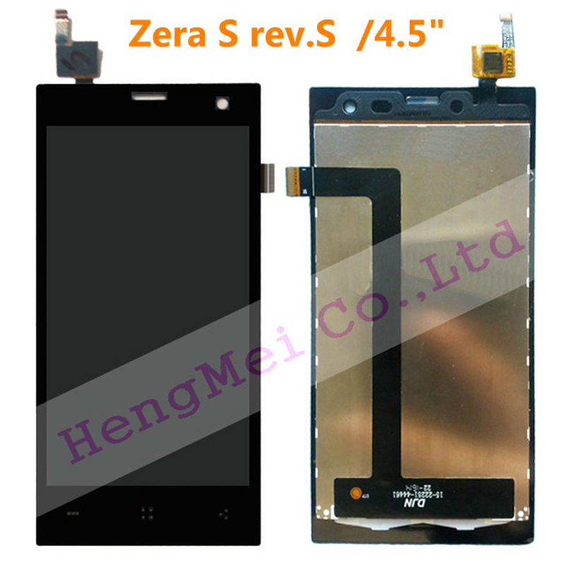 4.5 inch 1PC Black LCD+Touch Panel Highscreen Zera S (rev.S) ,LCD Display+Touch Screen Digitizer Glass Lens +Tools - HengMei Technology Co.,Ltd store