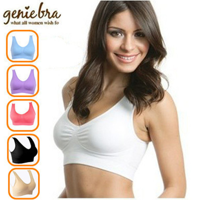 76c4c28f9 3pcs set Sexy Seamless Remove Pads Genie bra Women Push Up Body Shaper  Underwear Two-double Ahh Bra Tops Bra Vest dropshipping