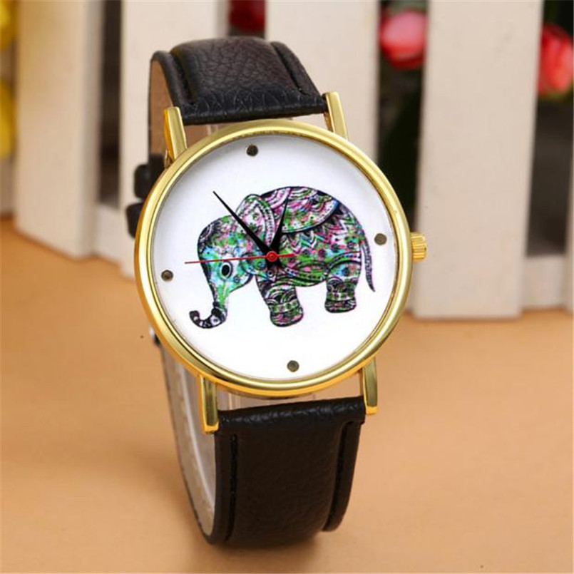 Watches New Brand Retro Leather Women Watches Fashion Denim Cartoon Girl Quartz Watch Ladies Monkey Dial Wrist Watch Relogio Feminino
