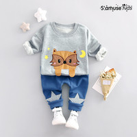 2017 Spring Autumn Baby Boys Clothes Set Lovely Children S Costumes Clothing 2PCS Long Sleeve Sports