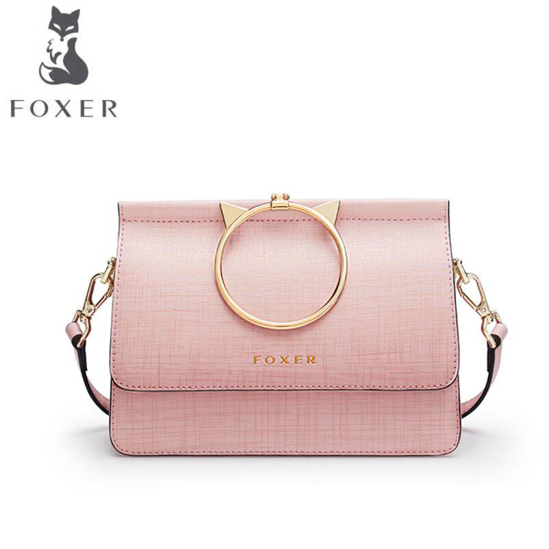 Здесь можно купить  FOXER 2019 New quality women leather handbags women famous brands designer fashion small bag tote women leather Crossbody bag  Камера и Сумки
