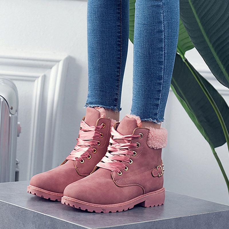 Livraison Taille Plus Rapide Cheville Couture pink Fenty Beauté Pu 2018 Hiver La Pour Nouveau Femmes grey Khaki Bottes Chaussures wnBqx8wrf