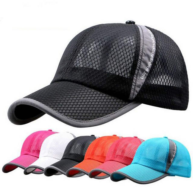 22f3e222 2018 New Summer Hat Men and Women Sunshade Cap Korean Mesh Net Baseball  Snapback Men's Advocate Casual Cap 9 Colors-in Baseball Caps from Apparel  ...