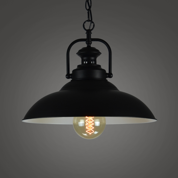 Loft Bar Black Iron American Vintage Retro Pendant Light Dining Room Mini Outdoor  Hanging Foyer Industrial Pendant Lamp