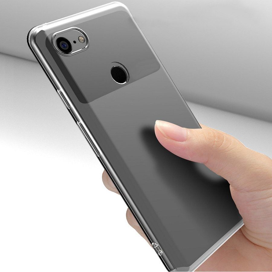 For Google Pixel 2/Pixel 2 XL/Pixel 3/Pixel 3 XL Case Slim Clear Transparent Cover Soft TPU Silicon Phone Protective Shell Bag