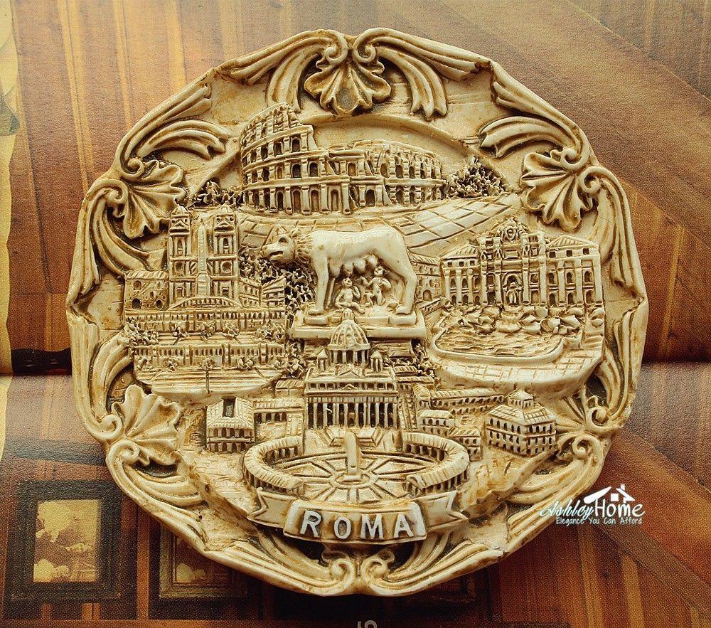 Multi-Scenes Landmarks of Roma, Italy Souvenir 3D Resin Fridge Magnet Craft Travel GIFT