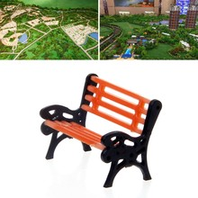 10pcs 1:100 Street Seats Bench Chair Model Train Platform Layout Settee HO Scale(China)