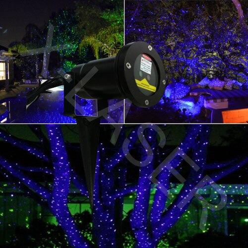 Blauwe laser verlichting voor buiten tuin/kerst decoratie/landschap ...