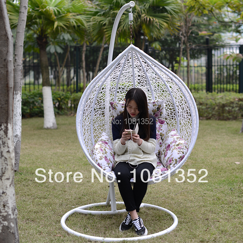 Bamboo Hanging Basket Indoor Casual Outdoor Wicker Chair