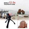 2017 nuevo kit de lentes de cámara del teléfono telescopio 12.5x zoom lente telefoto teleobjetivo para samsung galaxy note 2 3 4 5 caso para iphone 6 6 s 7 plus