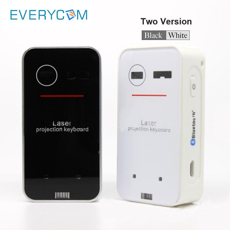 Everycom מקרן אבזר נייד Bluetooth לייזר מקלדת אלחוטי הקרנה וירטואלית עבור Iphone אנדרואיד חכם טלפון Ipad T