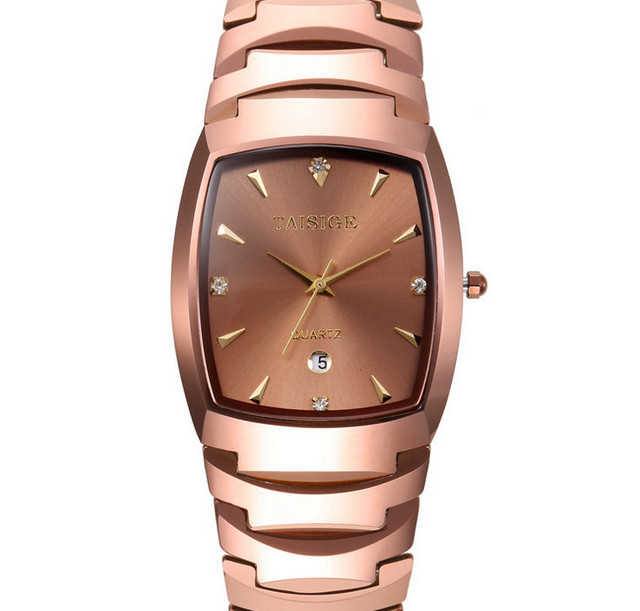 Vintage Fashion Men Women Business Statement Tungsten Steel Watches Import Quartz Lovers Dress Wrist watch Calendar Reloj NW8012