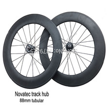 88mm Tubular Carbon Track Bike Wheels Fixed Gear and Free Gear Single Speed Bicycle Wheelset