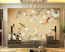 Custom 3 d photo room wallpaper mural wallpaper fashion flowers and birds 3D living room wall murals wallpaper for walls 3 d цена